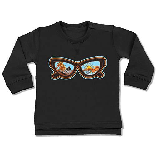Shirtracer Anlässe Baby - Sonnenbrille - 6-12 Monate - Schwarz - BZ31 - Baby Pullover