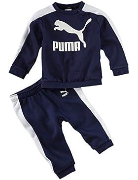 Puma Unisex Baby MINIME Prime T7Crew con Joggers Chándal, Unisex bebé, 852034, Peacoat, 104