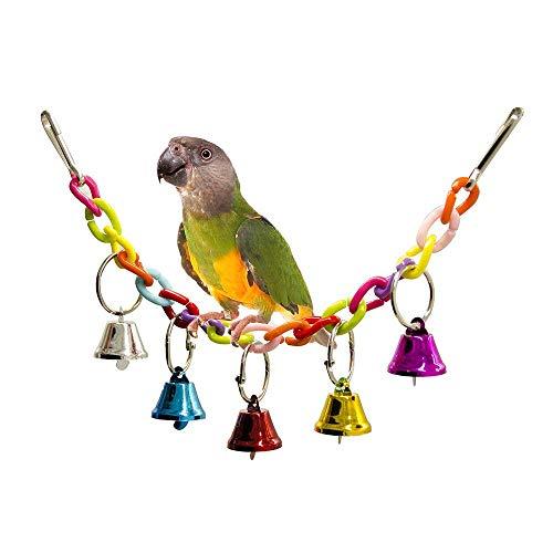 Vogel Hängende Glocke/Hängematte Schaukel Schaukel Spielzeug Herrliche Farben verbessern das Gleichgewicht und die Koordinationsfähigkeiten - Geeignet für die Vogelruhe