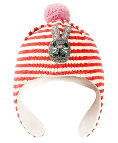 Happy Cherry - Bonnet Chaud à Pompons Bébé Enfant Garçon Fille Coton Doux  Rayure Maille Côtelée caab9fa3d07