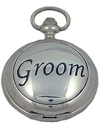 A E Williams Groom mens quartz pocket watch with chain