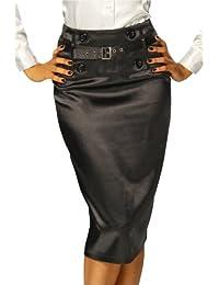 Pencil yourdesignerz-jupe pour femme avec ceinture noir