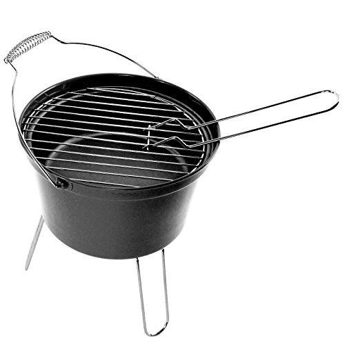 first4spares-aussen-bbq-tragbar-grill-eimer-festival-camping-grill-blau-grun-rot-schwarz-schwarz