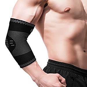 Elbow Support - Elbow Brace - Compression Arm Sleeve for Tendonitis - Arthritis - Best for Tennis Elbow - Golf - Weightlifting - Women - Men - Kids - Pair