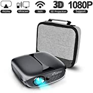 Mini Projector, ELEPHAS WiFi DLP HD Portable Pico 3D Video Pocket Projector Supports 1080P HDMI USB Built-in Y