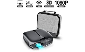 Mini Projector, ELEPHAS WiFi DLP HD Portable Pico 3D Video Pocket Projector Supports 1080P HDMI USB Built-in YouTube Koala Apps Rechargeable Battery, Ideal for Home Cinema and Outdoor Entertainment