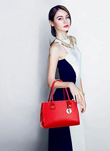 Sunas Sacchetto casuale del pendente del sacchetto del messaggero della spalla del sacchetto di spalla della borsa della nuova borsa delle donne retro rosso