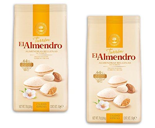 El Almendro - Pack incluye 2 Almendras Rellenas de Turrón - 150 g