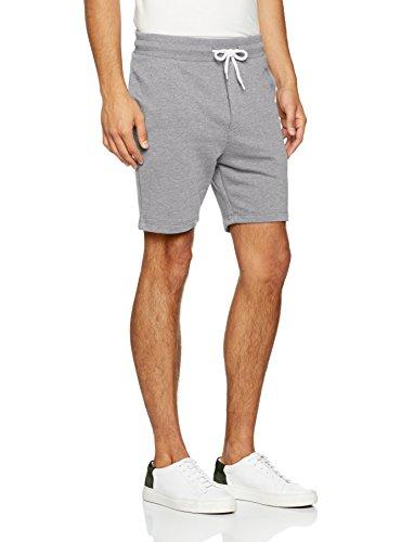 JACK & JONES Herren JORNEWHOUSTON Sweat NOOS Shorts, Grau (Light Grey Fit:Tight Semi Low Fit-Melange), 48 (Herstellergröße: S) Jones Sweat Light