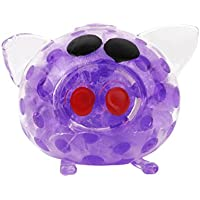 Squishy Stress Relief Funny Pig Hand Fidget Stress Reliever Squeezy & Bouncy Antistress Toy for Kids Adult Purple