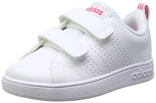 Adidas vs advantage clean cmf, scape per sport outdoor unisex-bambini, bianco ftwwht/suppnk, 24 eu