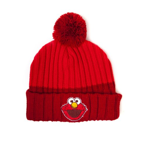 Sesamstraße - Elmo Designer Strickmütze Mütze Hut Beanie Original & Lizensiert (Hüte Designer Beanie)