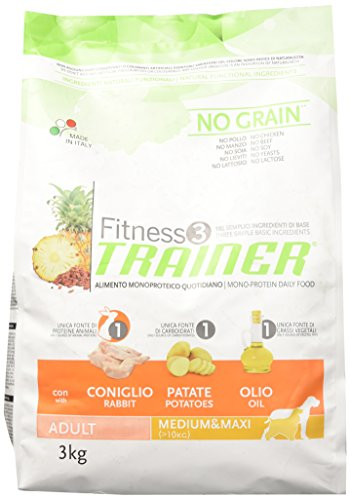 Trainer Fitness 3 No Grain Medium&Maxi Coniglio Patate e Olio 3kg