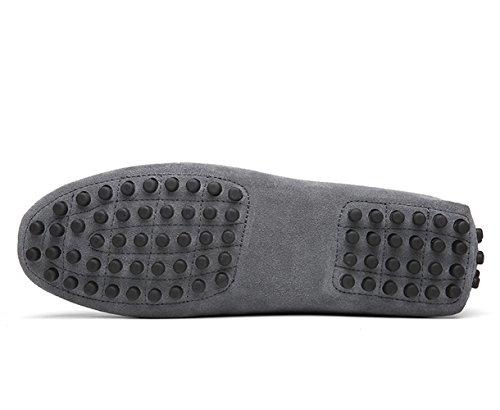 Icegrey Hommes Passant Conduite Chaussures Suède Flâneurs Gris