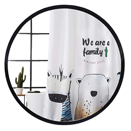 An der Wand befestigter Schminkspiegel für das Badezimmer Runder Wandbehang/Europäisches Waschen 40/50/60/70 / 80cm HD Tischglas-Waschraumzubehör