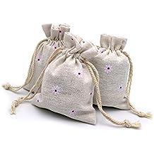 20 bolsas de arpillera de algodón con cordón 8,9 x 12 ...