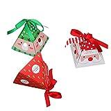 YeahiBaby 30PZ Scatola di caramelle per Natale Forniture per feste (Babbo Natale, Alce, Albero di Natale)