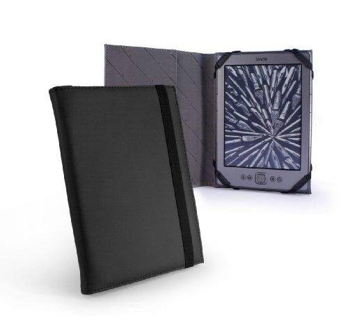 Tuff-Luv Kunstleder-Schutzhülle für Kindle 4/Kobo Touch-dünn, Buch-Stil, schwarz - Kindle Eink-cover
