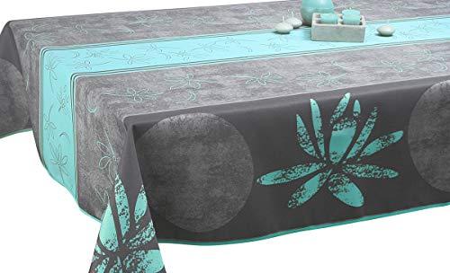 Nappe anti-taches Lotus bleu - taille : Rectangle 150x240 cm