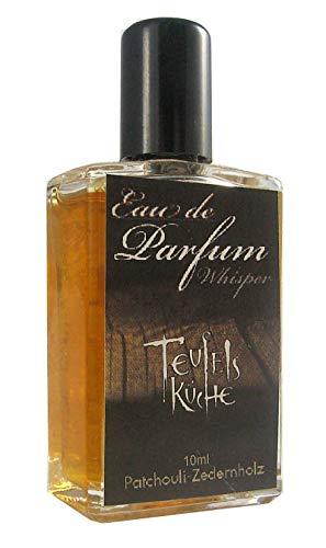 """Teufelsküche Patchouli""""Whisper"""", Patchouly mit Zedernholz, Eau de Parfum für Herren, Gothic Parfum, Mini Flakon, 10ml Glasflakon, Gotik Patchouly"""
