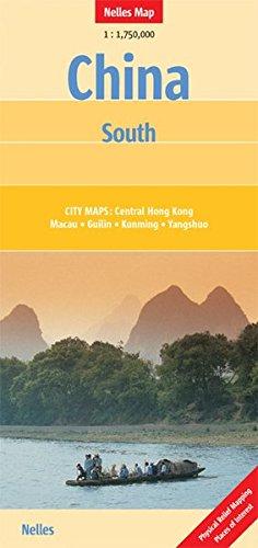 Nelles Map China : South (Landkarte) 1 : 1 750 000. City Maps: Central Hong Kong, Macau, Guilin, Kunming, Yangshuo