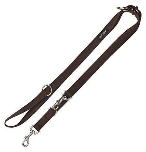 ami-juego-6-en-1-extra-fuerte-y-algodon-ajustable-correa-del-perro-grande-color-marron