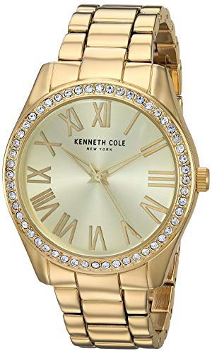 Kenneth Cole Women's Gold Tone Steel Bracelet & Case Quartz Watch KC50664001