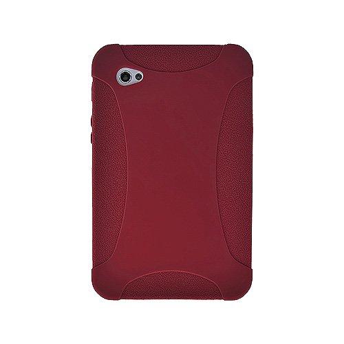 Amzer Silikon-Schutzhülle für Samsung Galaxy Tab GT-P1000, Maroon Red
