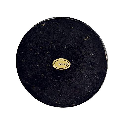 Preisvergleich Produktbild Lapis Vitalis Scheibe rund,  circa 7cm Schungit,  6 mm dick,  in Schachtel,  1er Pack (1 x 60 g)