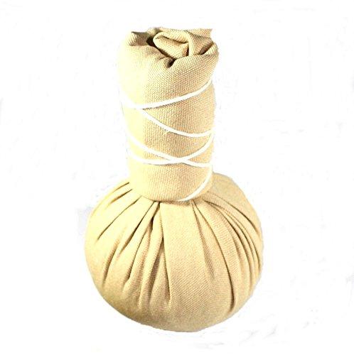 Kräuterstempel - Thai Spa - 1 Stück a` 75g - Beiger Compress Ball - Linderung von Rückenschmerzen