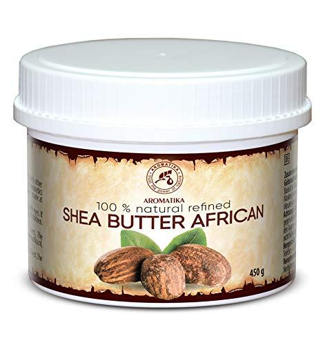 Shea Butter 450g - 100% Rein & Natürlich - Raffiniert Sheabutter - Butyrospermum Parkii - Afrikanisch - Körperbutter - für Körperpflege - Karité Body Butter