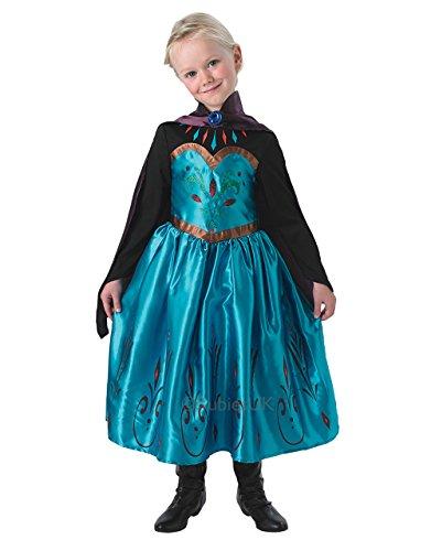 Frozen Kostüm, Kinder Coronation Elsa Disney Outfit, mittel, Alter 5–6Jahre, Höhe (Elsa Coronation Kostüm)