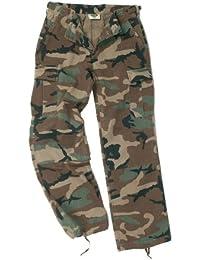 Mil-Tec Ladies Cut Army Pre-Wash Cargo Combats BDU Trousers Pants Woodland Camo