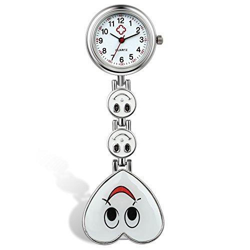 LANCARDO Krankenschwester Herren Damen Armbanduhr Analog mit Silikon Armband