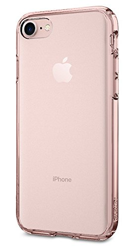 Coque iPhone 7, Spigen® [Ultra Hybrid] AIR CUSHION [Crystal Clear] Clear back panel + TPU bumper Housse Etui Coque Pour iPhone 7 (2016) - (042CS20443) UH Rose Crystal