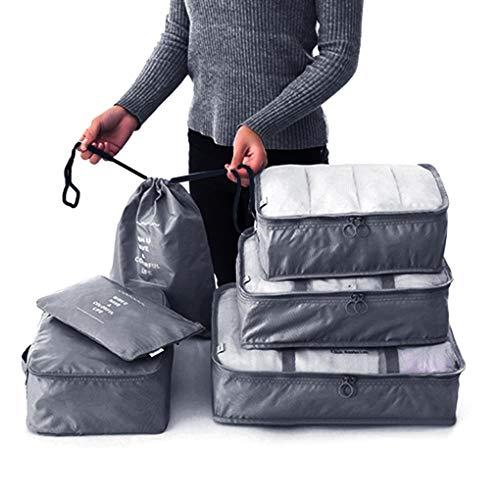 Schrank Organizer Kit (traline 6PCS / Set Travel Organizer Aufbewahrungstasche Kit Kleidung Organizer-Taschen-Beutel-Koffer Startseite Closet Taschen Container)