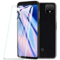 KuGi For Google pixel 4 xl Screen Protector, 9H Hardness HD clear Easy & Bubble Free Installation Tempered Glass Screen Protector Designed for Google pixel 4 xl smartphone (Clear)