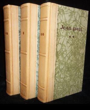 Jean Pauls Geist; oder Chrestomathie der vorzüglichsten, kräftigsten und gelungensten Stellen aus seinen sämmtlichen Schriften. Band 1 - 3 (nachträglicher in Halblederenband)