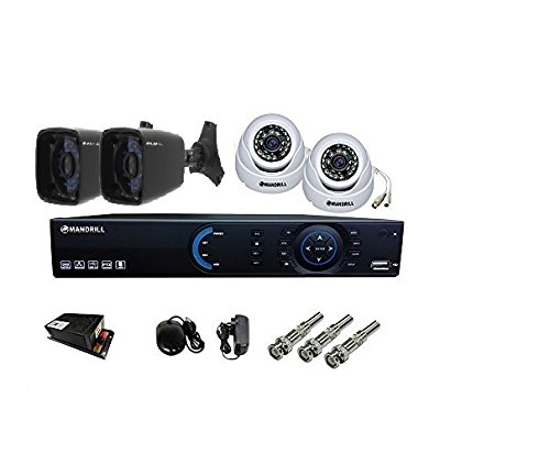 Mandrill 2 IN + 2 OUT DOOR NIGHT VISION SECURITY CCTV CAMERA + 4 CH DVR + COMBO OFFER