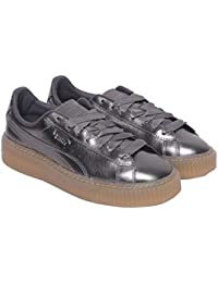 Puma Women's Basket Platform Luxe Wn S Quiet Shade-qu Leather Sneakers