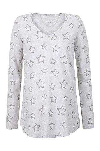 Bellybutton Schwangerschaftsmode Damen Langarmshirts T-Shirt 1/1 Arm, Grau (Sandy Gray Melange 8217), Medium (Herstellergröße: M) (Langarm T-shirt Armee-mama)