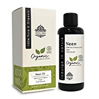 Neem Oil (Certified Organic) - Aroma Tierra - Fights skin & scalp infections, Boosts hair growth, Skin-care, Hair-care - 100ml