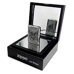 Accendino Zippo Gator doppio con specchio di presentazione–cromo spazzolato
