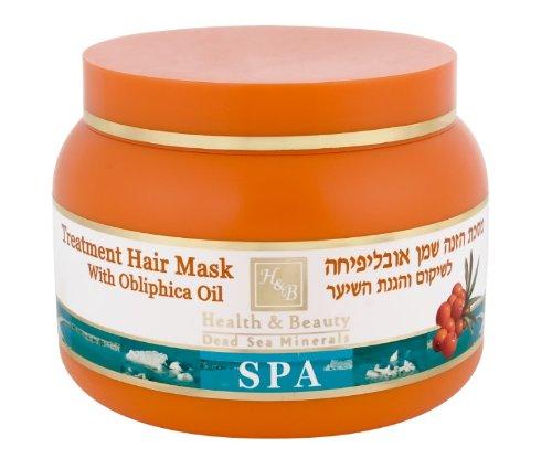 Mer Morte cosmétique - Health and Beauty Dead Sea Minerals - Masque traitant pour cheveux à lhuile d'argousier - 250 ml