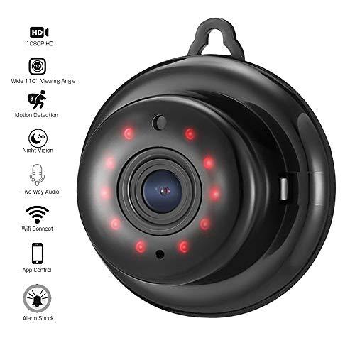 1080P Mini WiFi Versteckte Kamera, ieGeek Wireless Home Security-Kamera, Babyphone mit Nachtsicht, Zwei-Wege-Audio für Haus, Büro, Auto, Mall.