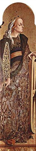 Das Museum Outlet–Altarpolyptychon von San Francesco in Montefiore Dell 'ASO, Tafel-– HL. Katharina von Alexandrien, gespannte Leinwand Galerie verpackt. 29,7x 41,9cm