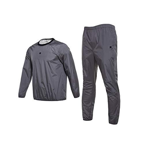 Trainingsanzug Grey Sweat Suit Herrenanzug Sport Fever Sweat Suit Gewichtsverlust Kleidung Fitness Sweat Suit Drop Körpergewichtsverlust Service Control Anzug Anzug (Size : XXL) Adidas Warm Ups