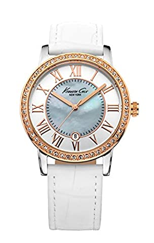 Kenneth Cole New York Women's KC2836 Classic Mother-Of-Pearl Dial Rose Gold Stones Watch