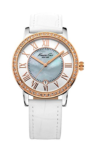 kenneth-cole-womens-white-leather-strap-mother-of-pearl-kc2836