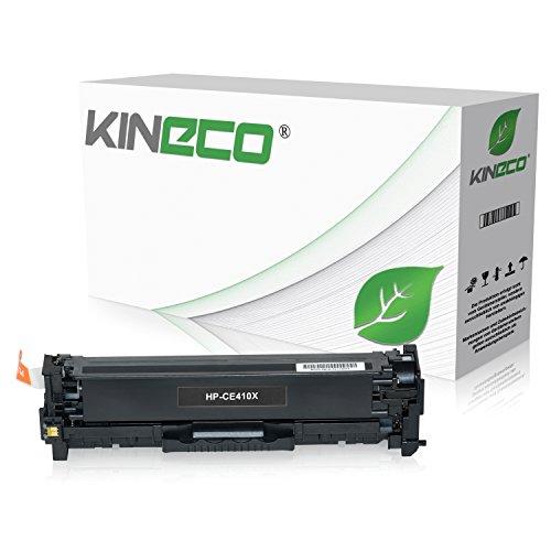 Kineco Toner kompatibel zu HP CE410X für HP Laserjet Pro 300 Color M351a, MFP M375nw, Laserjet Pro 400 Color M451dn dw nw, M475dn dw - 305X - Schwarz 4.000 Seiten